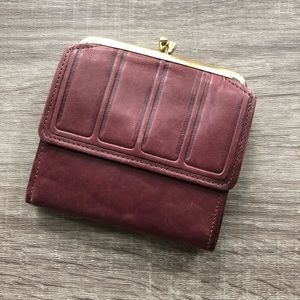 Small Vintage Lambskin Wallet, Brown